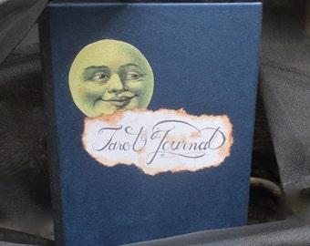 Antiqued Tarot Journal, Tarot Cards, Gypsy, Vintage, Sepia