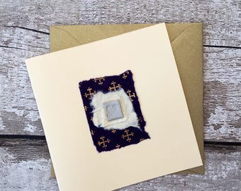 Hand made ceramic gift card.  Birthday, wedding, christmas, mothers day, with love, blank card