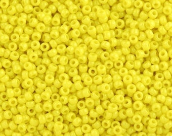 12/0 - 3 cut Toho Opaque Yellow Seed Beads - 275 grams
