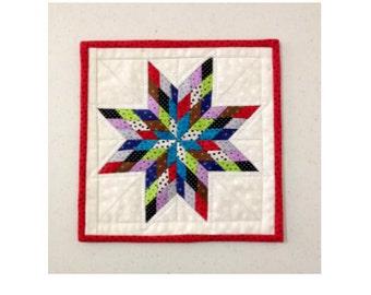 Scrappy Lone Star Mini Quilt - PDF pattern