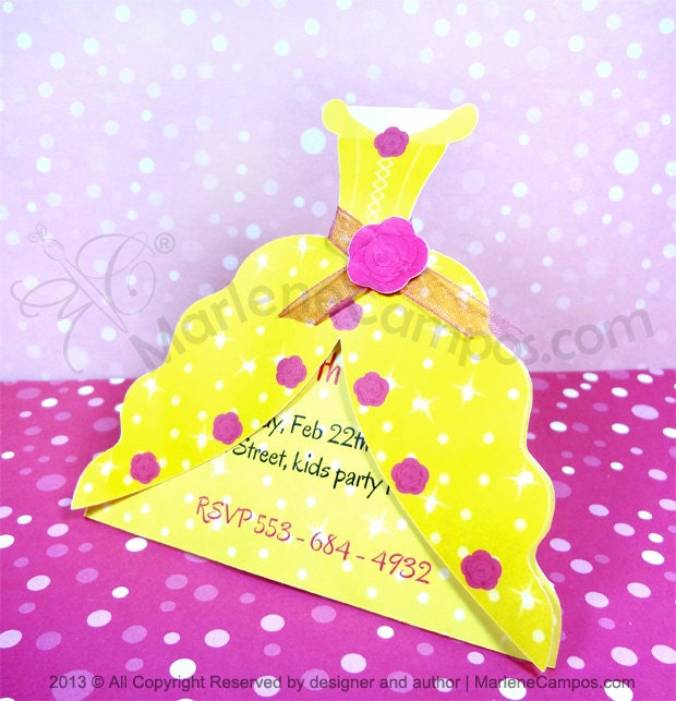 Princess Belle Decorations Stunning Princess Belle Invitation Inspired Beauty And The Beast Decorating Design