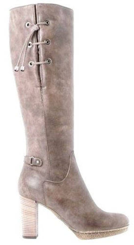 Aquatalia by Marvin K Taupe leather boots platform size 36.5 or 6.5 RRP 795