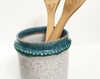 Handmade Stoneware Utensil Holder - Sandy - MADE TO ORDER