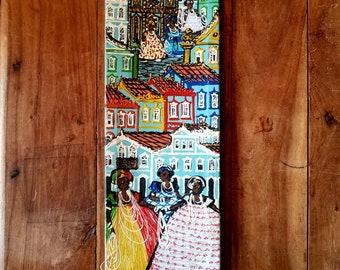 Brazilian Folk Art Painting by Claudeamir Souza, Original Art, Original Painting, Brazilian Art, Brazilian Folk Art, Claudeamir Souza