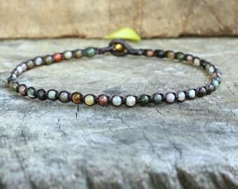 Fancy Jasper Indain Agate Beads Bracelet/Anklet