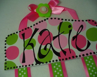 Personalized Bow Holder- Boutique Plaque Style