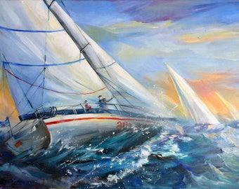 Régate/See Landscape/regatta/ships