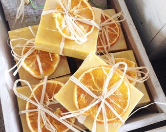 Orange/seaweed handmade soap, natural SOAP, SOAP scent, Christmas, Provence, Christmas, birthday gift, gift SOAP, bath, spa
