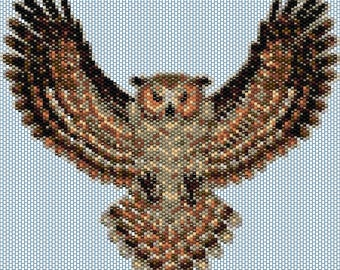 Owl 3 Peyote stitch PATTERN
