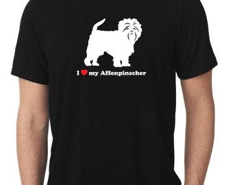 I Love My Affenpinscher T-Shirt monkey dog T549