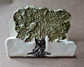 Ceramic Kitchen Sponge Holder  Bill holder OFF WHITE Tree