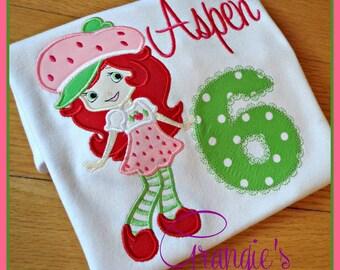 Personalized Strawberry Shortcake Birthday T-Shirt