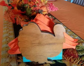 Napkin Holder Holiday Thanksgiving Turkey