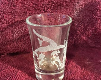 1 Gandalf wizard shot glass - Wizard, Gandalf, shot glass, shooter, barware, glassware, hand etched, etched glassware, Lord of the rings