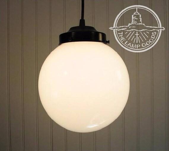 Winterport milk glass pendant light large globe milk glass pendant light large globe mozeypictures Gallery
