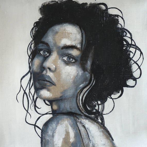 portrait noir et blanc portrait visage femme fille noir blanc. Black Bedroom Furniture Sets. Home Design Ideas