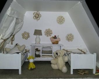 window frame little bear. The twins in their room decor for nursery