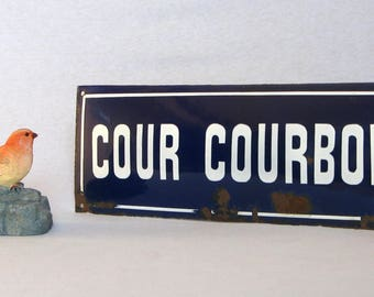 Authentic Early Vintage Enamelware Street Sign, for a wonderful French country touch