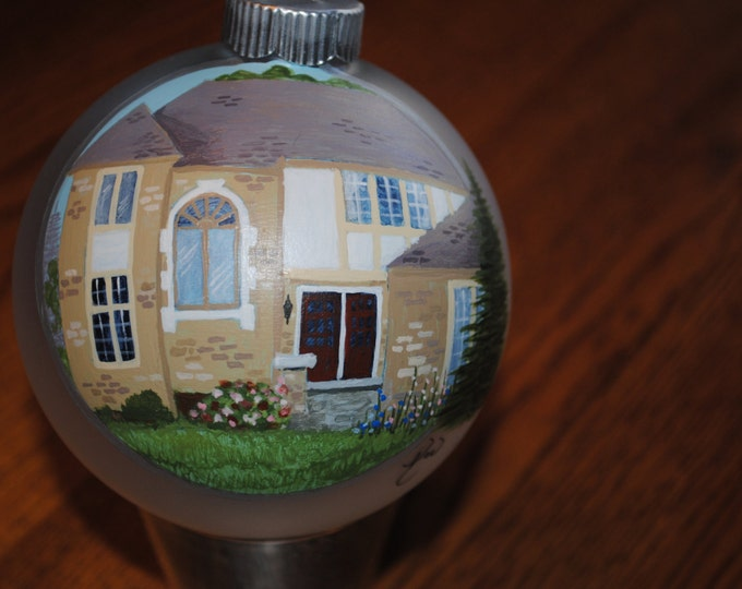 New Custom Hand Painted Home Ornament make a great house warming gift.  - sold