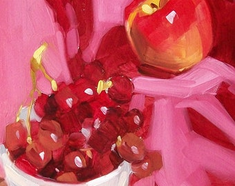 RIPE original fruit still life oil painting