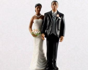 Wedding Cake Figurines, Bridal Couple Wedding Cake Topper,Ethnic Wedding Cake Topper, The Love Pinch Wedding Cake Topper