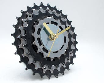 Bicycle Clock, Sprocket Clock, Unique Bike Clock, Industrial Decor, Decorative Clock, Contemporary Clock, Boyfriend Gift, Husband Gift