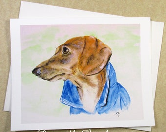 Dachshund Thank You Cards, Dachshund Note Cards, Wiener Dog Thank You Cards, Wiener Dog Note Cards, Cards with Dachshund