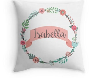Personalized Name Pillow - Nursery Decor - Girls Room Decor - Kids Room Decor - Baby Gift