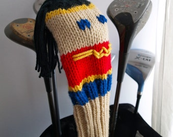 Knit PATTERN Wonder Woman Golf Club Cover PDF