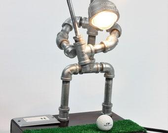 Golf Pipe Lamp, Golfer Gift