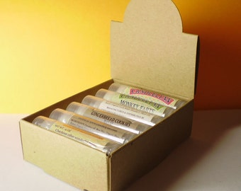20 Natural Kraft Lip Balm Arched Display Boxes