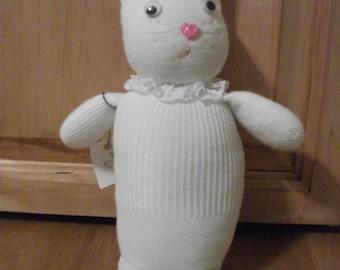 Sock Monkey Sock  Bunny Rabbit