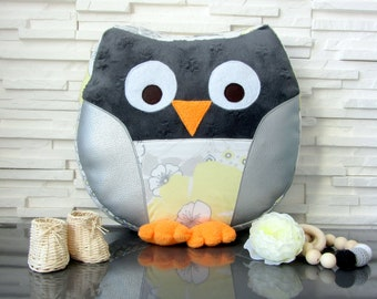 """Floral sweetness"" stuffed OWL pillow"