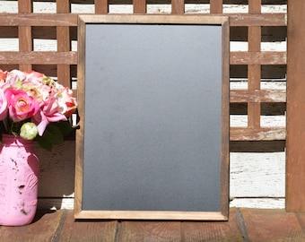 rustic wedding Chalkboard, 12 x 16 framed menu board, country wedding sign, rustic wedding chalk board sign