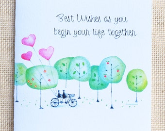 Engagement Card, Wedding Card, Cute Engagement Card, Cute Wedding Card, Wedding Shower Card, Engagement Congratulations Card, Love Card