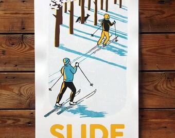 Slide into Winter - The Berkshires poster