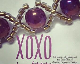 XOXO bracelet kit, purple