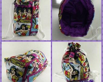 Wonder Woman Lined Dice Bag