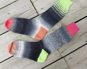 Hand Knit Socks Dark Fruit