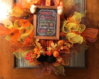 Fall Harvest Scarecrow Wreath