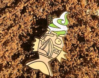 Green Tea Ice Cream Magikarp Taiyaki Hard Enamel Pin