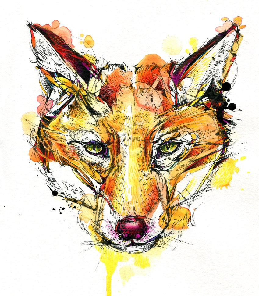 Red Fox Print 8x10 Limited Edition