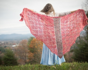 Shawl Knitting Pattern *Drekin*