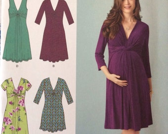 Simplicity 1360/Uncut Sewing Pattern/Misses Maternity Knit Dress or Mini Dress/Size 8 - 16/2014