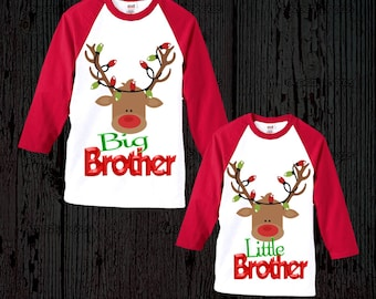 Sibling Matching Christmas Shirts - Brother or Sister