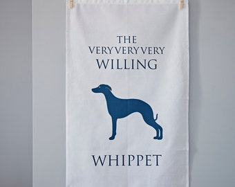 Whippet Tea Towel - Whippet Gift - House Warming Gift - Thank you gift - Dog Lovers Gift - Hostess Gift - Birthday Gift - Kitchen Towel