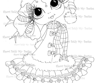 INSTANT DOWMLOAD Digital Digi Stamps Big Eye Big Head Dolls Digi  My Besties IMG909 By Sherri Baldy
