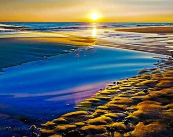 Caswell Beach, Sunsets, Ocean Photography, Home Decor, Coastal  Photography, Landscape Photography, North Carolina, 8x10 print