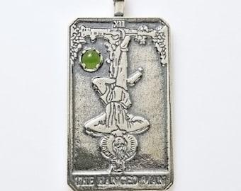 XII Hanged Man Tarot Pendant Large