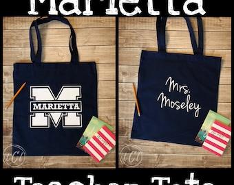Marietta City Schools Teacher Tote - Personalized Name - MCS